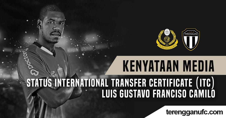 STATUS INTERNATIONAL TRANSFER CERTIFICATE (ITC) LUIS GUSTAVO FRANCISO CAMILO